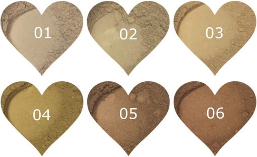 Angel Face Sample Foundations Skin Colours