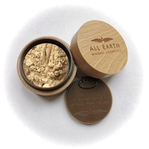 All Earth Mineral Finishing Powder beechwood eco pot